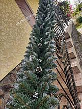Гірлянда хвойна Кармен з срібними шишками і перлами 2.70 м / Ялинкова гілка / Ялинка штучна, фото 2