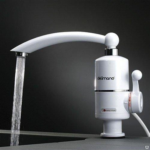 Электрически нагреватель DELIMANO, проточный нагреватель для воды (боковое подключение)