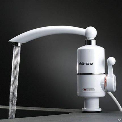 Электрически нагреватель DELIMANO, проточный нагреватель для воды (боковое подключение), фото 2