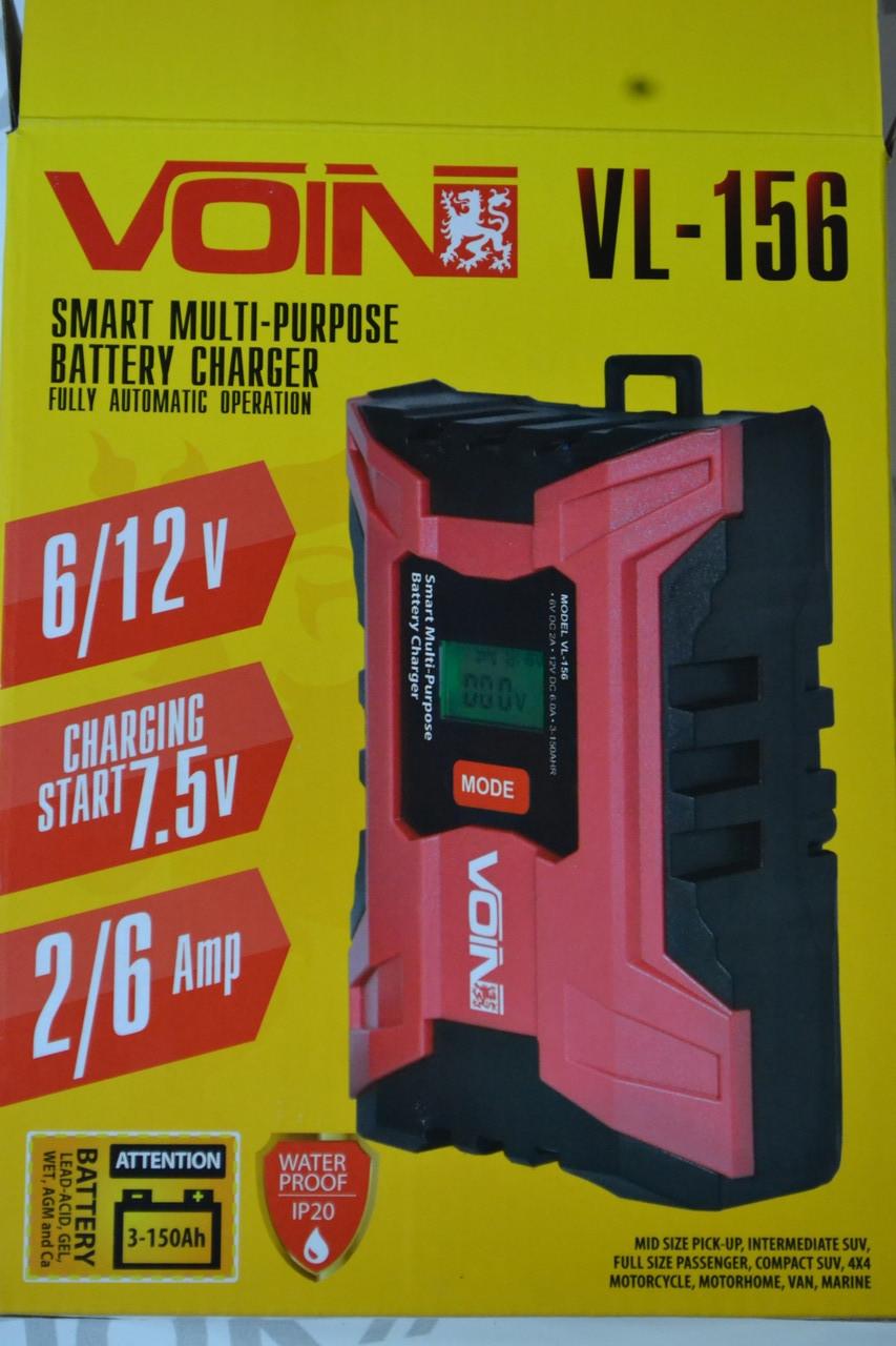 Зарядний пристрої під VOIN VL-156 6-12V / 2.0-6.0A / 3-150AHR / LCD / Импульсное (VL-156)