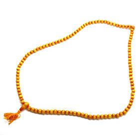 Бурштинові чотки (O=0,9 см 40 см)(108 намистин)a