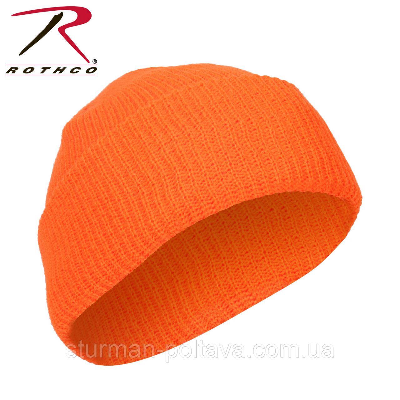 Шапка  мужская акриловая оранжевая для охоты  Deluxe Fine Knit  Rotcho  USA