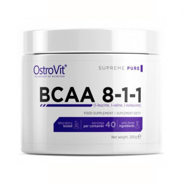 Аминокислоты bcaa OstroVit BCAA 8-1-1 200 g без вкуса