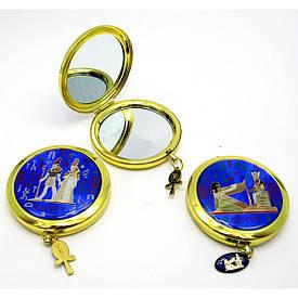 """Дзеркальце косметичне в золотому корпусі """"Єгипетська тематика"""""""