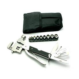 Ніж-розвідний ключ, молоток з набором інструментів (18,5х10х3 см)(17 1)