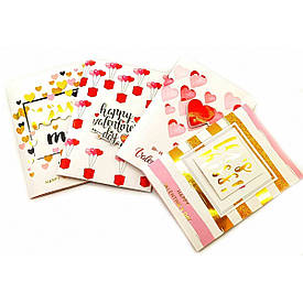 "Музична листівка з конвертом ""Valentines Day""(19х13 см)"