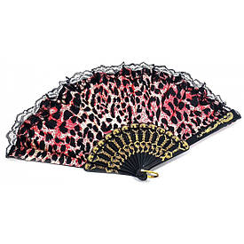 """Веер  """"Красный Леопард""""  (23 см)"""