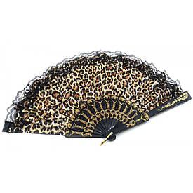 """Веер  """"Леопард""""  (23 см)"""