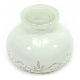 Колба для кальяну біла (10х10х8 см)(внутрішній d-3,5 см)