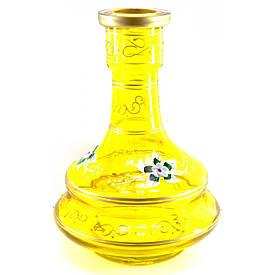 Колба для кальяну скло жовта (26х18х18 см внутрішній d-4,5 см)