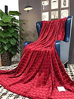 Покрывало велюровое Кубик (вишневый) 200х230 см