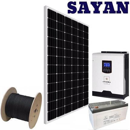 Автономная солнечная станция 1 кВт для личного пользования с поликристалической батареей Risen