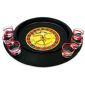 Рулетка з чарками чорна (30х27х6 см)(6 стаканів)