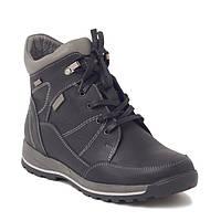Зимние мужские кожаные подростковые ботинки