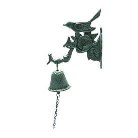 """Дзвіночок чавунне литво """"Пташка на гілці"""" (34х16х7 см)"""