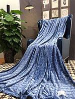 Покрывало велюровое Кубик (синий) 200х230 см