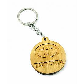 """Экобрелок """"Toyota"""" ольха покрыт маслом и пчелинным воском"""