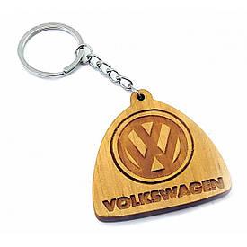 """Экобрелок """"Volkswagen"""" вільха покритий маслом і воском пчелинным"""
