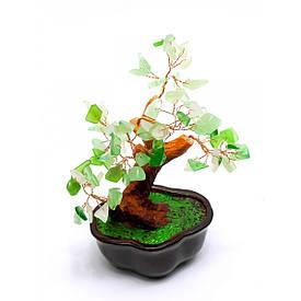 Дерево з камінням (12 см) зелене