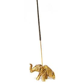 """Підставка під пахощі """"Слон"""" бронза (6х3х2 см)"""