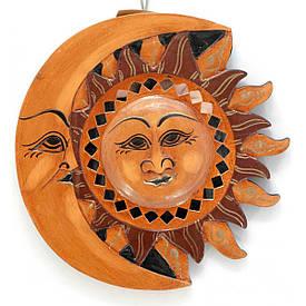 "Дзеркало мозаїчне ""Місяць-Сонце"" (d-20 см)"