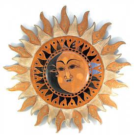 """Дзеркало мозаїчне """"Сонце"""" (d-60 см)"""
