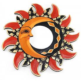 "Дзеркало мозаїчне ""Сонце і Місяць"" (d-30 см)"