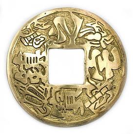 Монета з ієрогліфами бронзова (d-12 см)