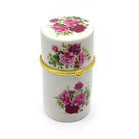 """Футляр для зубочисток """"Квіти"""" (8х4,5х4,5 см)"""