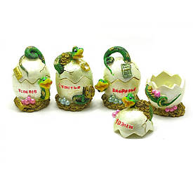 Змея на яйце шкатулка (6х9х6 см)(4 шт/уп)