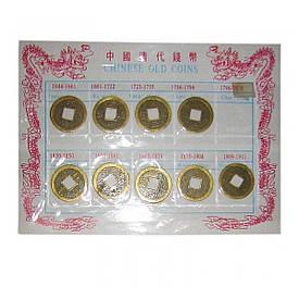 Монети на планшеті (в н-рі 10 шт)(2,5 см)(17х12,5 см)