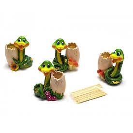 Змея подставка под зубочистки  (6х5х3,5 см)(8 шт /уп)
