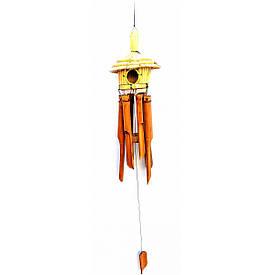 """Музика вітру """"Будиночок"""" бамбук (20х20х70 см)"""