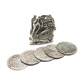 "Підстаканники ""Лебідь"" (н-р 6 шт) метал (9х8,5х4,5 см)(Непал)"