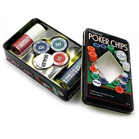 Покерні фішки (100 фішок)(20х12,5х5 см)(вага фішки 4 гр. d-39 мм)