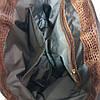 """Сумка жіноча """"Верона"""" натуральна шкіра, руда з тисненням під крокодила, фото 5"""