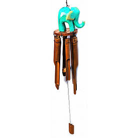 """Музика вітру """"Слон"""" бамбуковий (10х10х70 см)"""