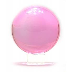 Кришталевий кулю на підставці рожевий (13,7х11х11 см)