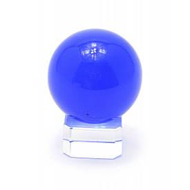 Кришталевий кулю на підставці синій (4 см)