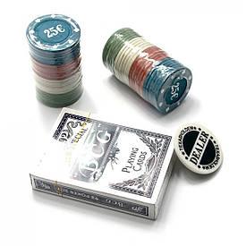 Покерний набір в блістері (колода карт,48 фішок)(24,5х10х4 см)(вага фішки 4 гр. d-39 мм)