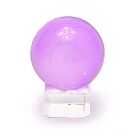Кришталевий кулю на підставці фіолетовий (4 см)