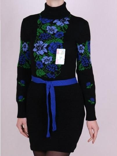 Женское платье вязка - Рябина