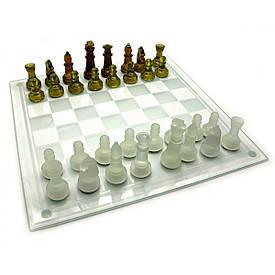 Шахи скляні бурштинові (39х39х6 см)