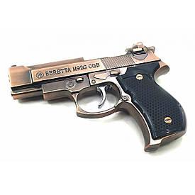 "Зажигалка  газовая  турбо ""Пистолет"" медь  (11х7х2,5 см)"