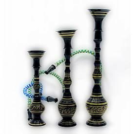 """Кальяни чорні бронзові (н-р 3шт.)(6,8,10"""") (15,20,24 см)"""