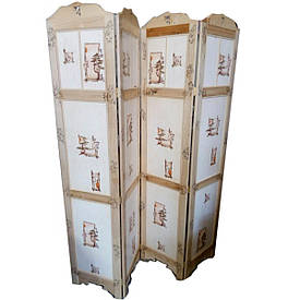 Ширма (185*41)*4 стулки китайський орнамент, ясен