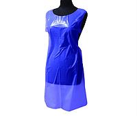 Одноразовый фартук полиэтиленовый SanGig Standart (100шт) Голубой 1.1x0.66 м