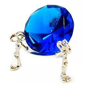 Кришталевий кристал на підставці синій (4 см)