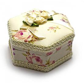 "Скринька тканина ""Шестигранна"" (11х9,5х5,5 см)"