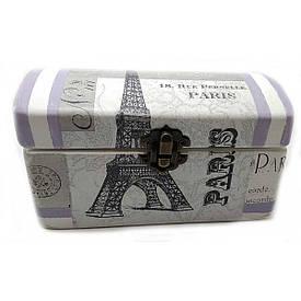 """Шкатулка """"Париж"""" (16х8х8 за версією см) масив дерева"""